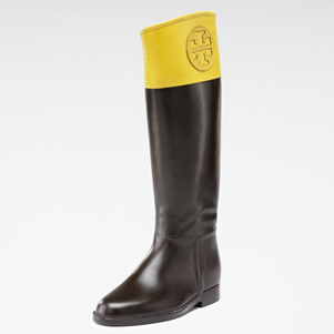 8a3743f1c34e I am so coveting Tory Burch s Winnie rain boot. Her whole fall collection  is great (an interesting combo of bohemian chic and European riding wear).