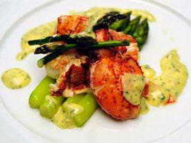 lobster-asparagus